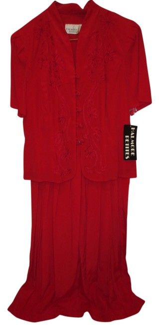 red Maxi Dress by Holmode petites