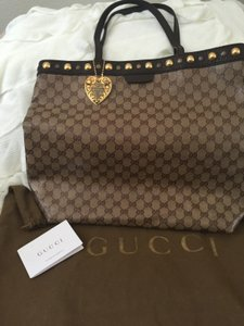 Gucci Crystal Babouska Tote in GG Monogram Brown