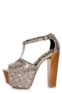 Jessica Simpson Sequin Platforms