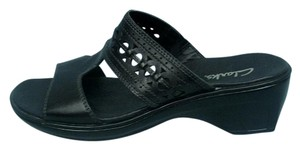 Clarks Leather Black Sandals