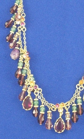 Ralph Lauren 2 Necklaces & Matching Earrings all with Semi Precious Accents