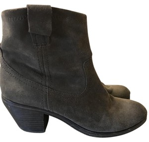 Ash Leather Grey Boots