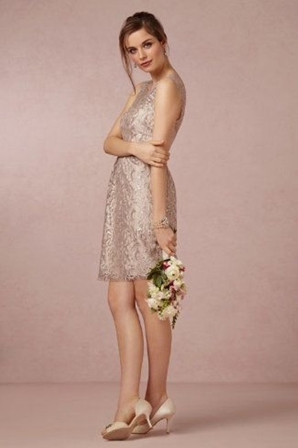 Item - Sandstone / Blush / Nude Cotton Metallic with A Polyester Lining Bhldn Harlow Formal Bridesmaid/Mob Dress Size 2 (XS)