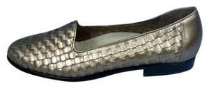 Trotters Leather Loafers Bronze/Gold Flats