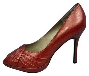 Kenneth Cole Leather Red Pumps