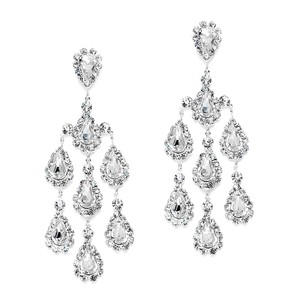 Mariell Dramatic Crystal Rhinestone Chandelier Earrings 3680e