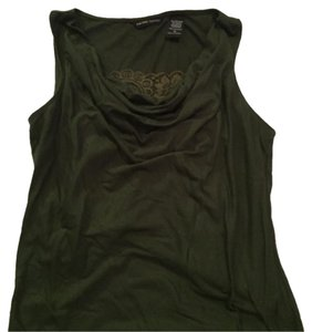 New York & Company Top Hunter Green