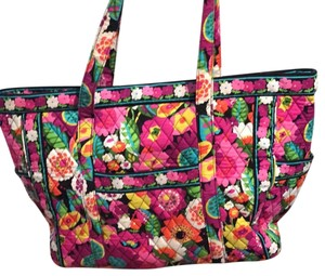Vera Bradley Pink, Green, Orange, Black Travel Bag