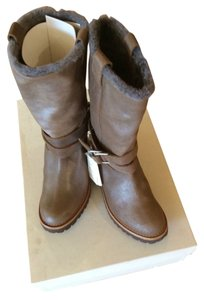 Brunello Cucinelli Khaki With Shimmer Boots