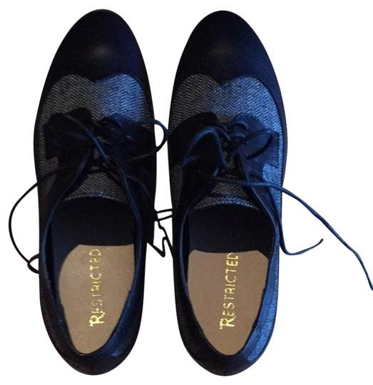 Restricted Black & Gray Flats