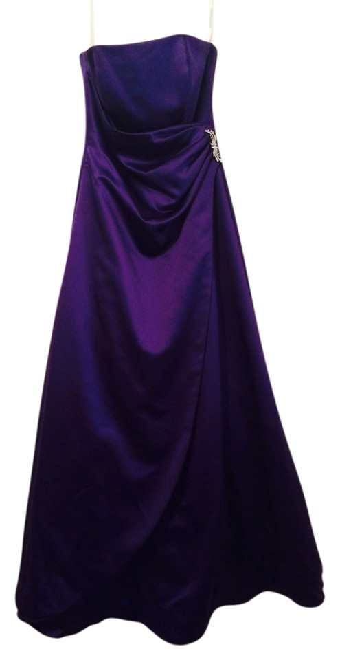 David\'s Bridal Royal Purple / Lapis Long Formal Dress Size 6 (S ...