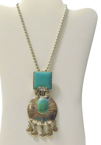 Other Vintage Sterling Silver & Turquoise Pendant