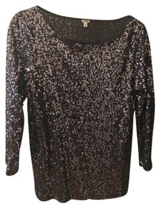 J.Crew Sequins Long-sleeve Top