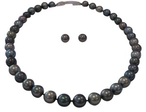 GENUINE South Sea Tahitian Pearl Necklace, 14 KT WG