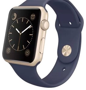 Apple Apple Watch 42mm Midnight Blue Gold Hardware With Box, Manual, Charger, USB Cable, Extra Band