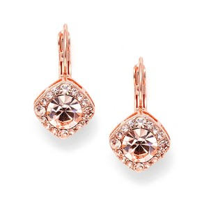Mariell Tailored Earrings In Rose Gold For Wedding Or Prom 209e-rg