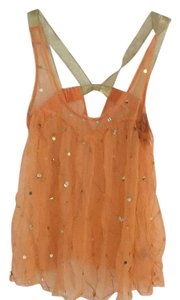 Free People Top Gold, Orange
