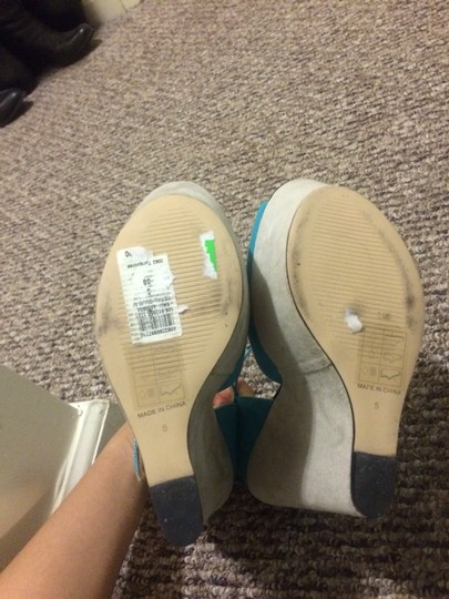 River Island Turquoise Wedges