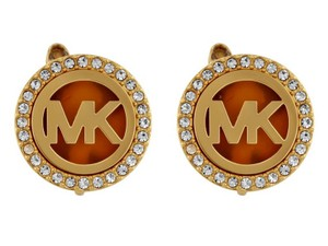 Michael Kors Michael Kors Logo Gold-Tone Stud Clip On Earrings MKJ4520710