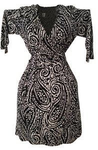 Emma & Michele short dress Black and white Soft Paisley on Tradesy
