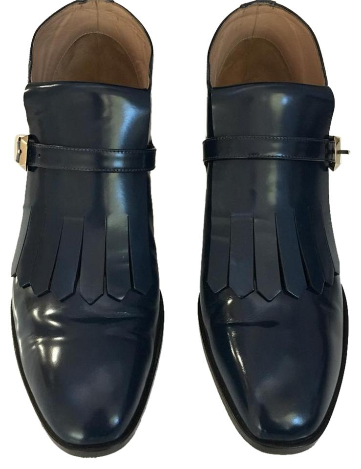 Valentino Navy Garavani Studded Polished-leather Women's Boots/Booties Loafers Eu 40.5/ Color Boots/Booties Women's b3a0d3
