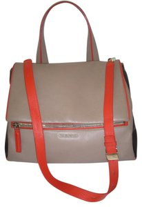 Givenchy Pandora Pure Satchel in taupe black orange