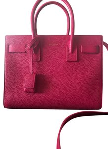 Saint Laurent Sac De Jour Pink Satchel in Fuchsia