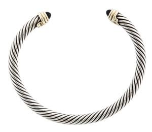 David Yurman Sterling silver David Yurman Cable Classics onyx cuff bracelet