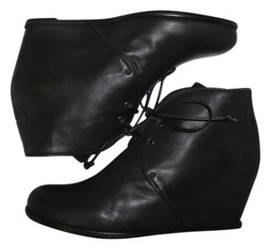 Stuart Weitzman Wedge Black Nappa Leather Boots