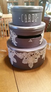 Beautiful Wedding Card Box With Heavy Lace Decoration