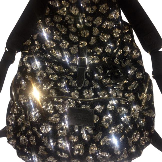 Item - Cheetah Sequin Black and Silver Backpack
