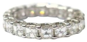 Fine,Asscher,Cut,Diamond,Eternity,Ring,3.60ct,White,Gold,14kt,Sz4