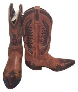 Mordo Cowgirl Size 11 Red Heart Brown Boots