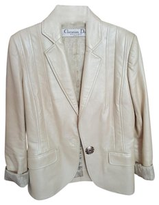 Dior Leather Fitted Tan Blazer