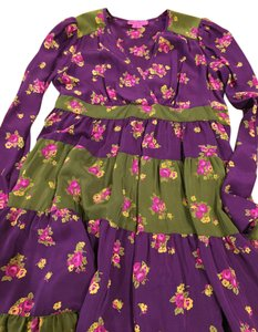 Purple/Green Maxi Dress by Betsey Johnson Floral