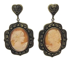 AMEDEO Amedeo NYC Ricamo Cameo Drop Earrings
