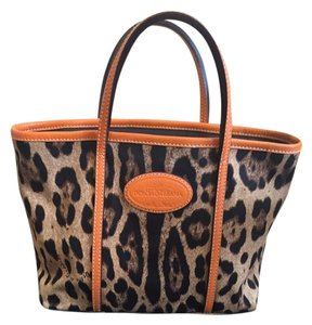 Dolce&Gabbana Tote in Orange Leopard