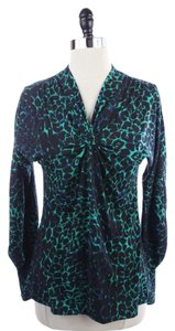BCBGMAXAZRIA Bcbg Maxazria Top BLUE GREEN BLACK