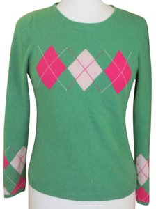 Juicy Couture Cashmere Plaid Green Couture Tartan Sweater