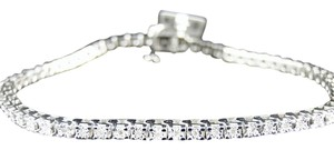 Other Mens Or Ladies 1 Row Genuine Diamond Bracelet 8 Inches