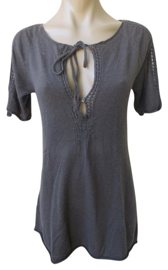 349ad3d99ee Theory Cashmere Knit Mesh Trim S s Tunic Sz S Sweater free shipping ...
