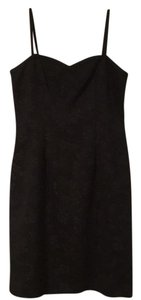 Sara Campbell Lbd Textured Spaghetti Strap Scalloped Dress