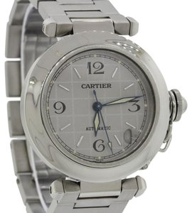 Cartier Cartier Pasha Steel Silver Date Dial 36mm Automatic Watch 2324 wBox