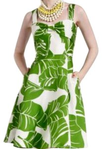 Kate Spade short dress White with green print on Tradesy