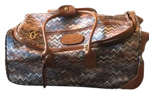 Missoni Blue /white/tan Travel Bag