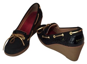 Sperry Black Wedges