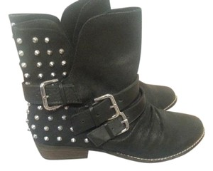 Dolce Vita Suede Ankle Studded black Boots