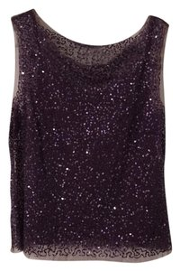 Other Sheer Sequin Top purple, plum