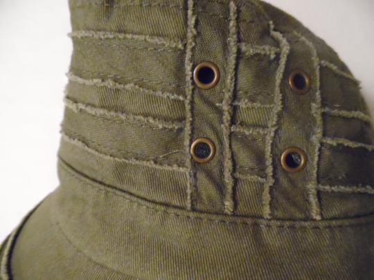 D&Y D&Y Brand Army Green Distressed Military Cadet Hat Cap