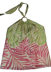 Vineyard Vines Floral Halter Green, pink and white Halter Top